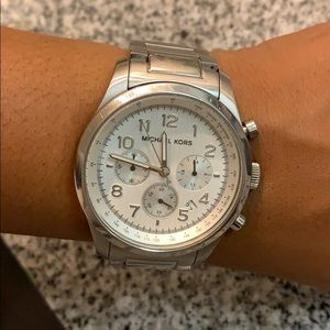Stainless steel Michael Kors oversized watch!
